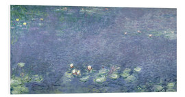Cuadro de PVC  Waterlilies: Morning - Claude Monet