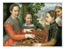 Póster  Game of Chess - Sofonisba Anguissola