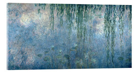 Cuadro de metacrilato  Waterlilies: Morning with Weeping Willows - Claude Monet