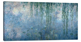 Lienzo  Waterlilies: Morning with Weeping Willows - Claude Monet