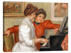 Lienzo  Yvonne and Christine Lerolle at the piano - Pierre-Auguste Renoir