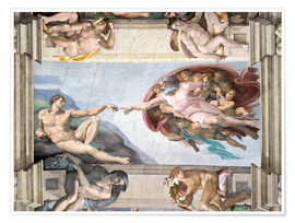 Póster  Sistine Chapel: The Creation of Adam - Michelangelo