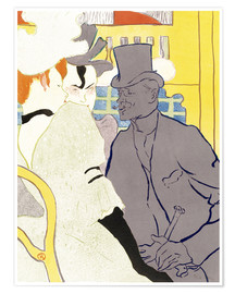 Póster  The Englishman at the cabaret - Henri de Toulouse-Lautrec