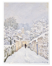 Póster  Nieve en Louveciennes - Alfred Sisley