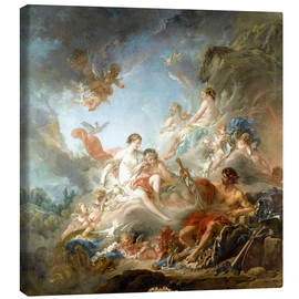 Lienzo  The Forge of Vulcan - François Boucher