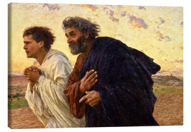 Lienzo  The disciples Peter and John - Eugene Burnand