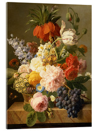 Cuadro de metacrilato  Still Life with Flowers and Fruit - Jan Frans van Dael