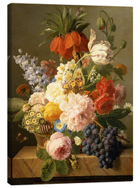 Lienzo  Still Life with Flowers and Fruit - Jan Frans van Dael