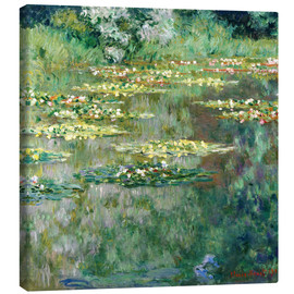 Lienzo  The Waterlily Pond - Claude Monet