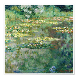 Póster  The Waterlily Pond - Claude Monet