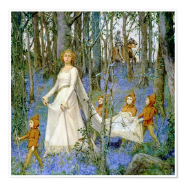 Póster  The Fairy Wood - Henry Meynell Rheam