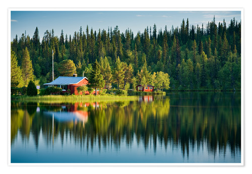 Póster Summer in Lapland