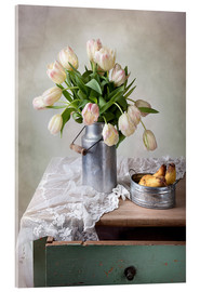 Cuadro de metacrilato  Still life with tulips - Nailia Schwarz