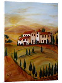 Cuadro de metacrilato  Sunrise in Tuscany - Christine Huwer