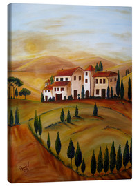 Lienzo  Sunrise in Tuscany - Christine Huwer