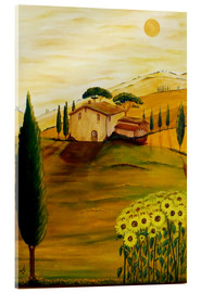 Cuadro de metacrilato  Sunflowers in Tuscany - Christine Huwer