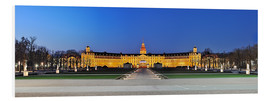 Cuadro de PVC  Panoramic view of palace Karlsruhe Germany - FineArt Panorama