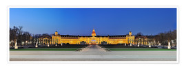 Póster Panoramic view of palace Karlsruhe Germany