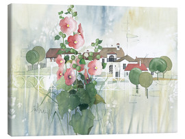 Lienzo  Rural Impression with hollyhocks - Franz Heigl