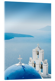 Cuadro de metacrilato  Church Santorini Greece - Mayday74