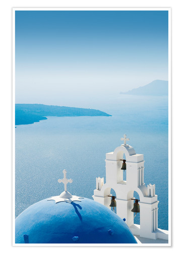 Póster Church Santorini Greece