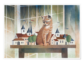 Póster  View of the cat - Franz Heigl