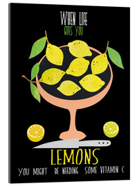 Cuadro de metacrilato  When life gives you lemons - Elisandra Sevenstar