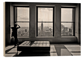 Cuadro de madera  Nueva York, Top of the Rock - Thomas Splietker