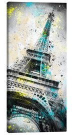 Lienzo  City Art PARIS Eiffeltower IV - Melanie Viola