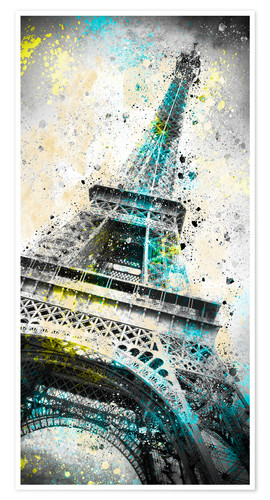 Póster City Art PARIS Eiffeltower IV