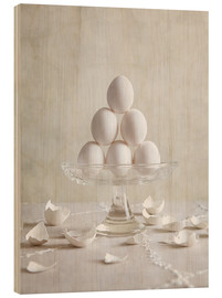 Cuadro de madera  Still Life with Eggs - Nailia Schwarz