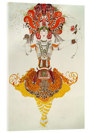 Cuadro de metacrilato  Ballet Costume for 'The Firebird' - Leon Nikolajewitsch Bakst