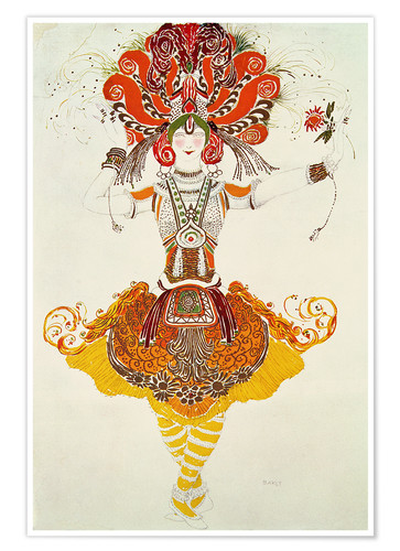 Póster Ballet Costume for 'The Firebird'
