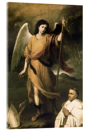 Cuadro de metacrilato  Archangel Raphael with Bishop Domonte - Bartolome Esteban Murillo