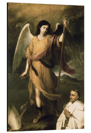 Cuadro de aluminio  Archangel Raphael with Bishop Domonte - Bartolome Esteban Murillo