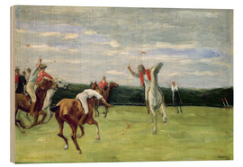 Cuadro de madera  Polo players in Jenischpark - Max Liebermann
