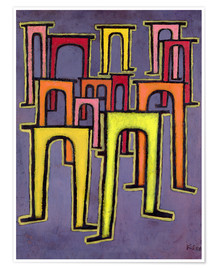 Póster  Revolution of the Viaduct - Paul Klee