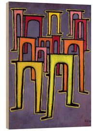 Cuadro de madera  Revolution of the Viaduct - Paul Klee