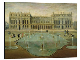 Cuadro de aluminio  Chateau de Versailles from the Garden Side - French School