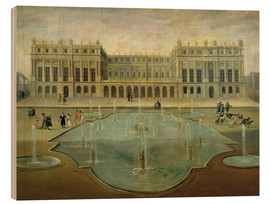 Cuadro de madera  Chateau de Versailles from the Garden Side - French School
