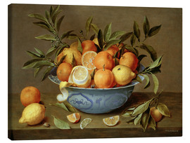 Lienzo  Still Life with Oranges and Lemons - Jacob van Hulsdonck