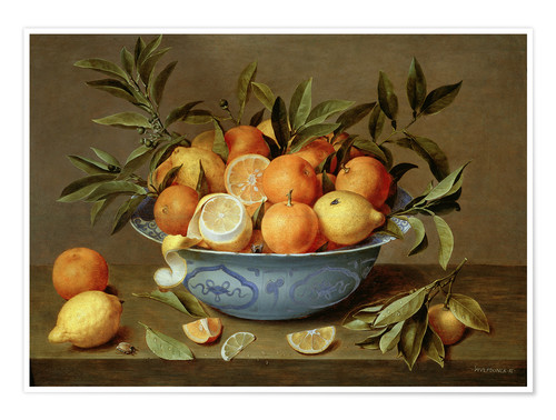 Póster Still Life with Oranges and Lemons