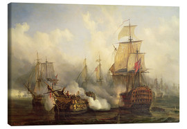 Lienzo  The Redoutable at Trafalgar - Auguste Etienne Francois Mayer