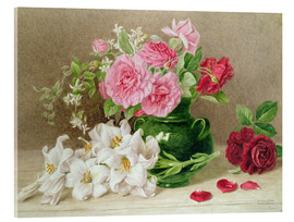 Metacrilato  Roses and Lilies - Mary Elizabeth Duffield