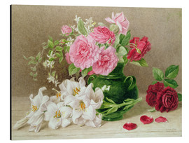 Aluminio-Dibond  Roses and Lilies - Mary Elizabeth Duffield