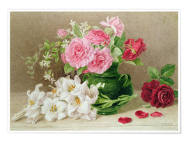 Póster  Roses and Lilies - Mary Elizabeth Duffield