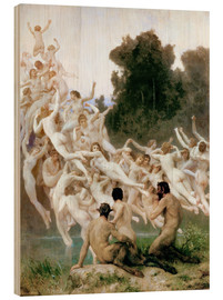 Cuadro de madera  The Oreads - William Adolphe Bouguereau