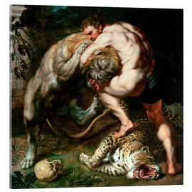 Metacrilato  Hercules Fighting the Nemean Lion - Peter Paul Rubens