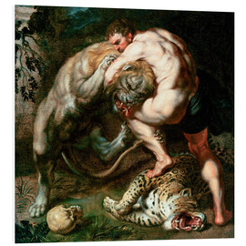 Cuadro de PVC  Hercules Fighting the Nemean Lion - Peter Paul Rubens