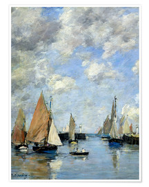 Póster  The Jetty at High Tide - Eugène Boudin